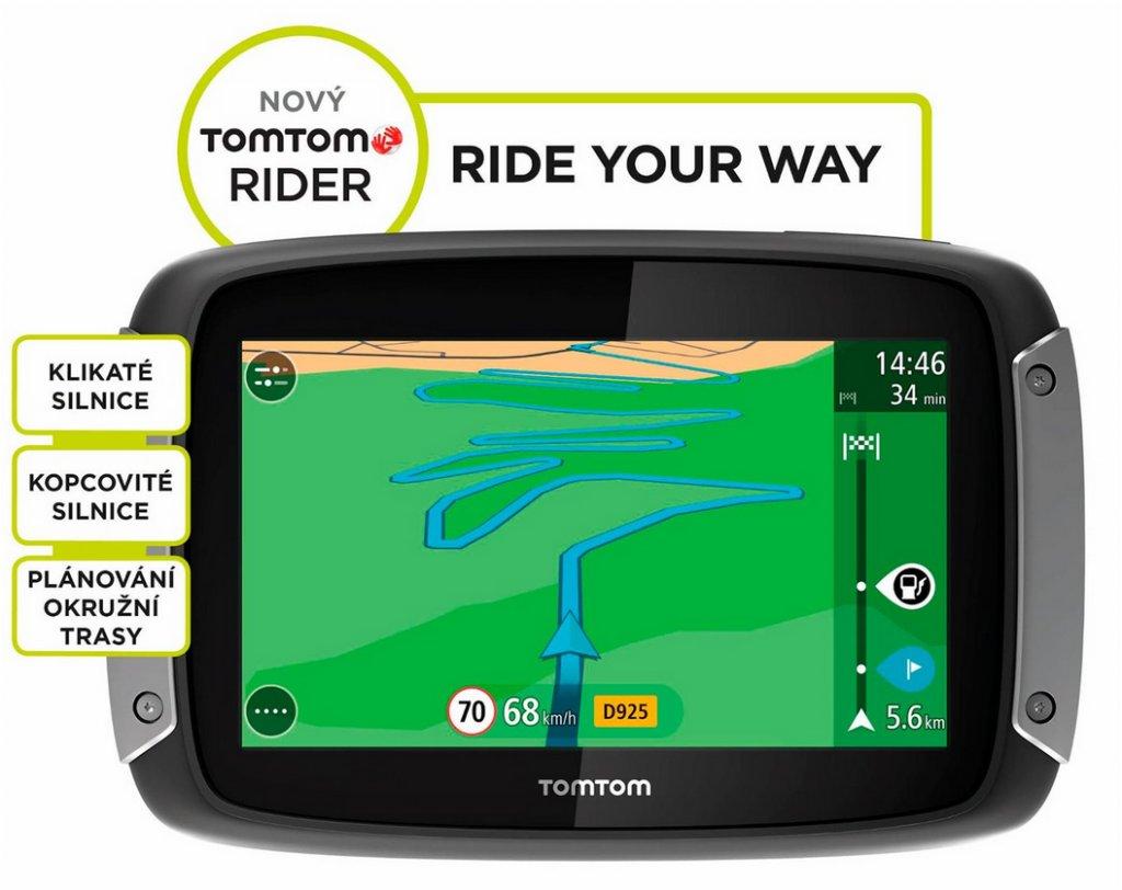 Navigace TomTom Rider 400 EU pro motocykly LIFETIME