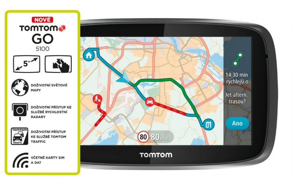 Navigace TomTom GO 5100 World, LIFETIME