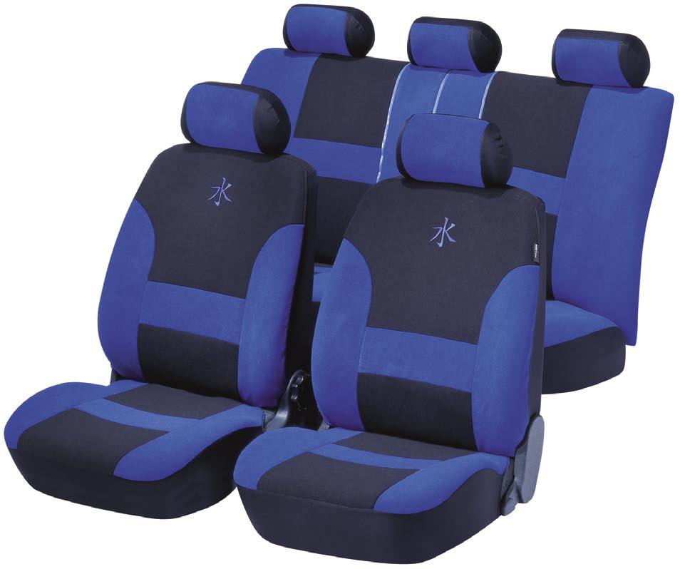 Autopotahy sedadel Cassis - modrý
