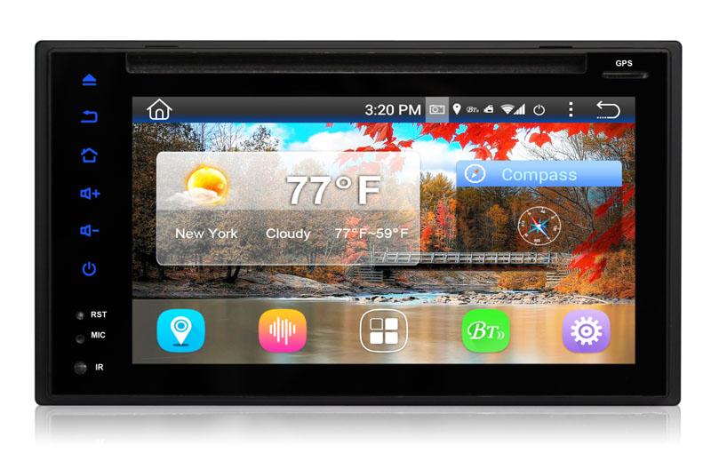"2DIN autorádio s 6,2"" LCD, Android 4.4.4, WI-FI, DVD, USB, GPS, bluetooth"