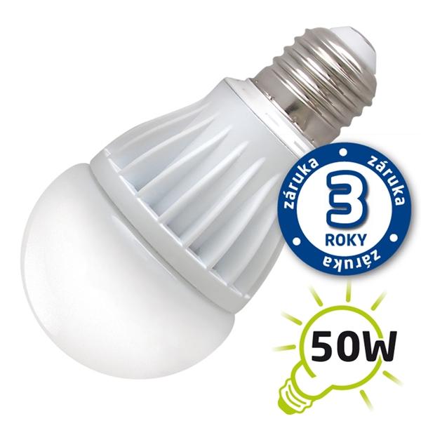 LED žárovka A60, E27/230V, 7W (Al) - bílá teplá