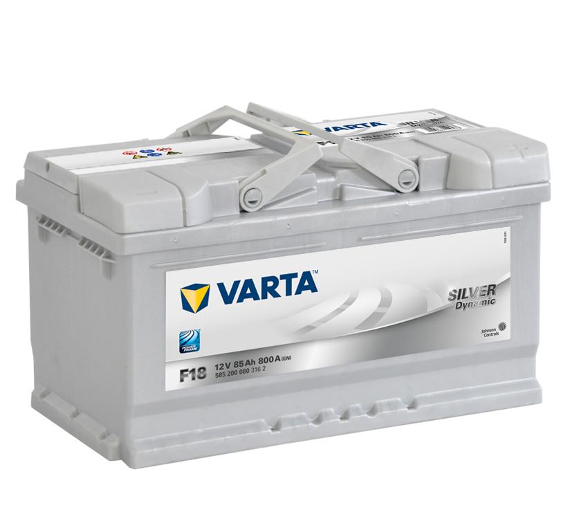 Autobaterie VARTA SILVER dynamic 85Ah L+ 12V 800A