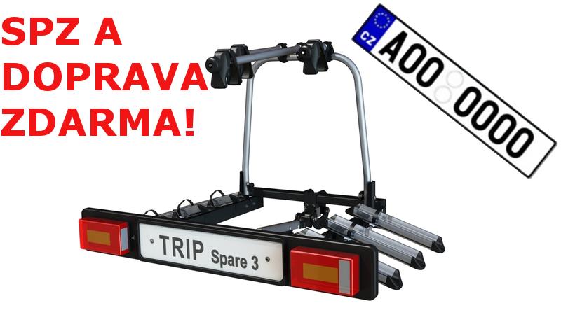 Nosič kol na tažné zařízení Hakr TRIP SPARE pro 3 kola DOPRAVA a SPZ ZDARMA