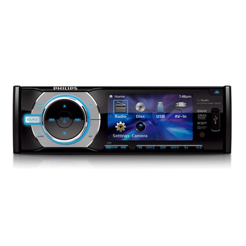"PHILIPS autorádio DVD/CD/USB + 3"" monitorem"