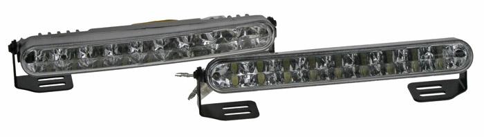 LED světla pro denní svícení, 182x24mm, ECE