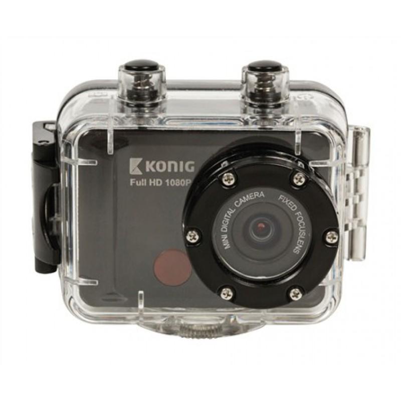 Sportovní kamera Full HD 1080p, LCD 2'', vodotěsná 60m KÖNIG CSAC300