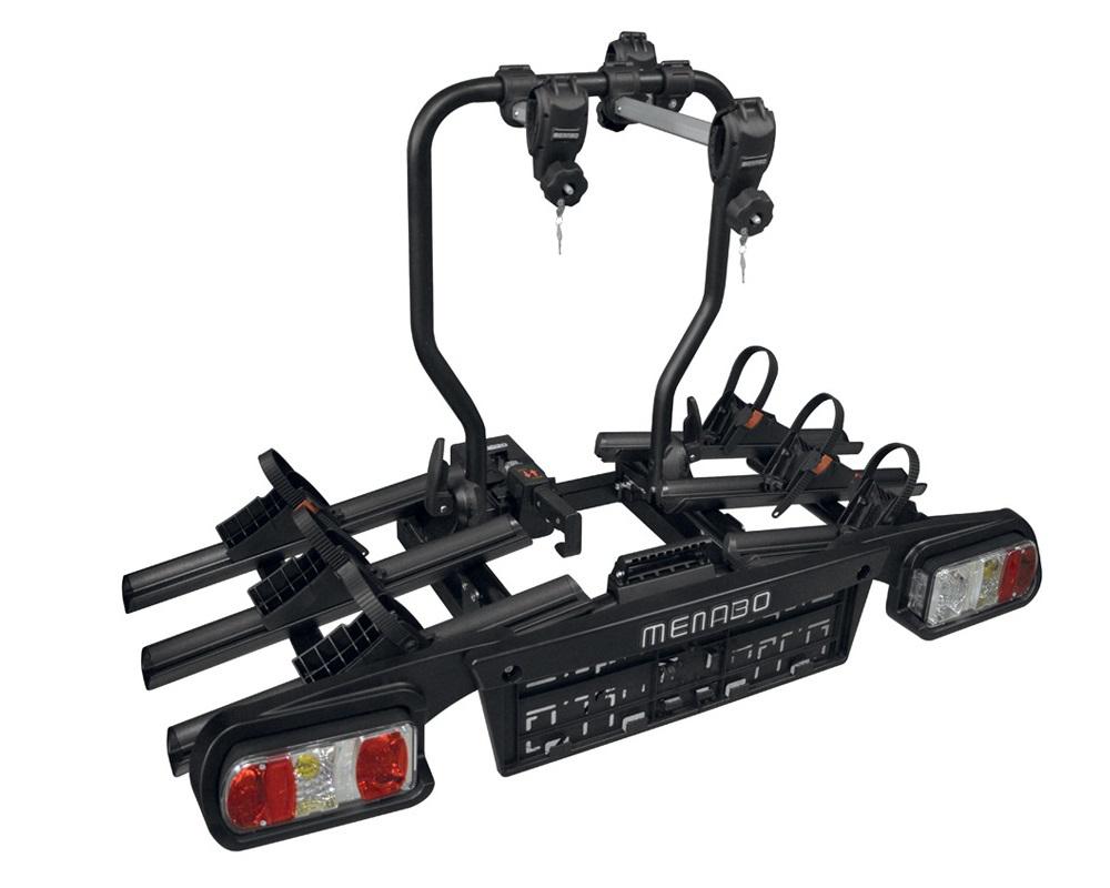 Nosič 3 jízdních kol Menabo Alphard na tažné zařízení sklopný