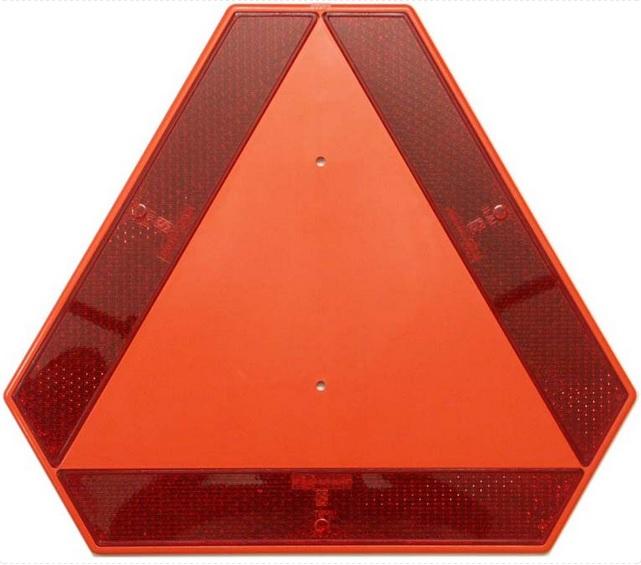 Trojúhelník výstražný reflexní plast - pomale jedoucí vozidla