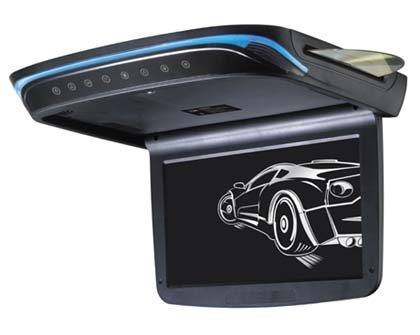 """Stropní monitor 9"""" černý s DVD/SD/USB, ultra tenký"""