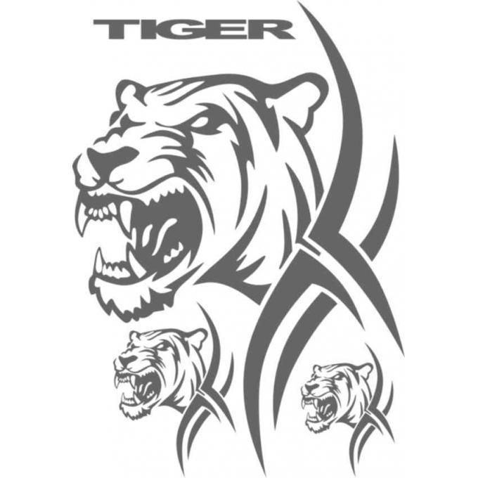 Samolepící dekory - Tygr tetování 35x50cm