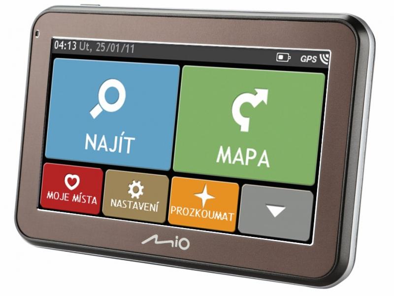 "MIO Spirit 5400 GPS navigace, LCD 4,3"", mapy EU (44) Lifetime"
