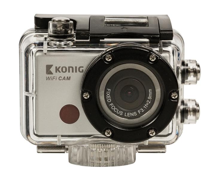 Sportovní kamera Full HD 1080p, WiFi, vodotěsná 30m KÖNIG CSACW100