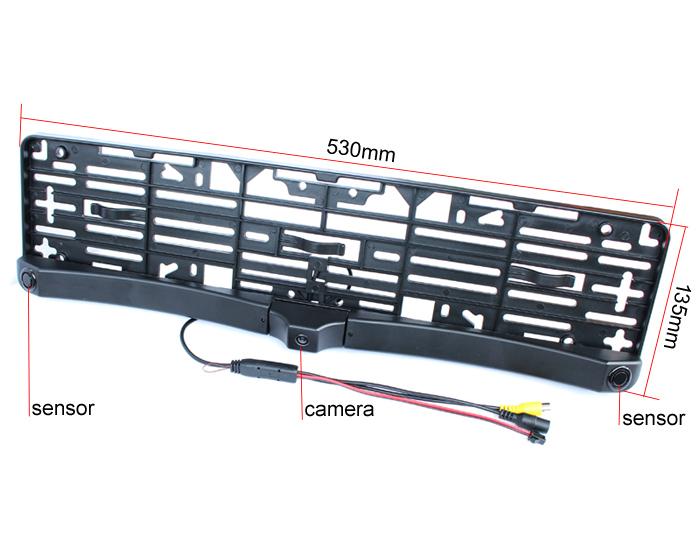 Couvací kamera v SPZ rámečku se 2 senzory