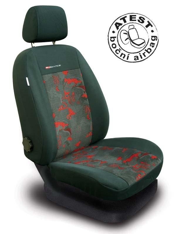 Autopotahy Škoda Fabia II, dělená, červené