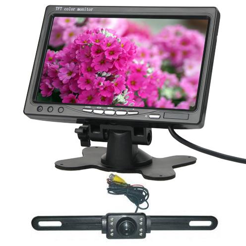 7 palcový TFT LCD monitor do auta + Couvací kamera autc102 s nočním viděním