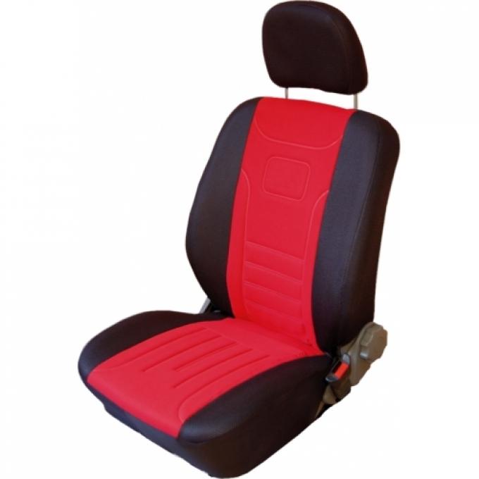Autopotahy Classic Škoda Felicia s dělenou zadní sedačkou, červené