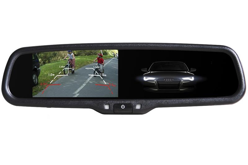 Monitor ve zpětném stmívacím zrcátku Bmw, Citroen, Peugeot, Volvo AK-043LAD