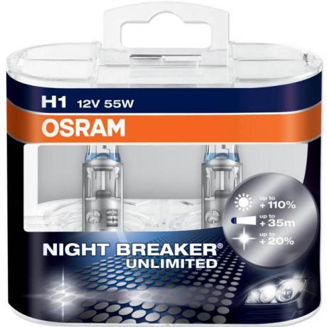 Autožárovky Osram H1 Night Breaker UNLIMITED +110% - 2ks