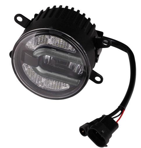LED mlhová světla/denní svícení, kulatá světla 90mm, ECE R19