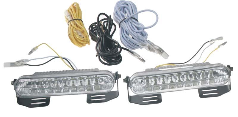 LED světla pro denní svícení, 120x24mm, ECE