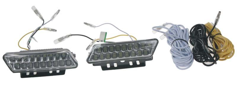 LED světla pro denní svícení, 100x25mm, ECE