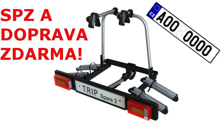 Nosič kol na tažné zařízení Hakr TRIP SPARE pro 2 kola DOPRAVA a SPZ ZDARMA