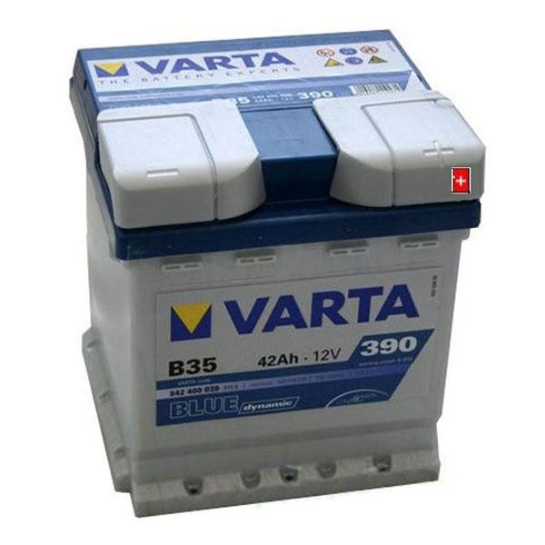 Autobaterie VARTA BLUE dynamic 42Ah 12V 390A 542400