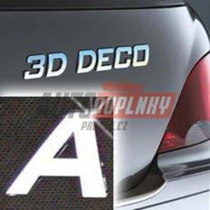 Písmeno samolepící chromové 3D-Deco - A