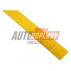 Samolepící páska reflexní dělená 1m x 5cm žlutá