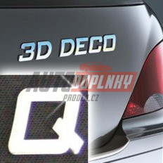 Písmeno samolepící chromové 3D-Deco - Q