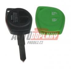 Silikonový obal pro klíč Suzuki 2-tlačítkový, zelený