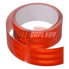 Samolepící páska reflexní 5m x 5cm červená