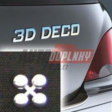 Písmeno samolepící chromové 3D-Deco - tečky 4ks