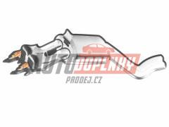3D Car Logo výfuk s plameny - nalepovací