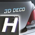 Písmeno samolepící chromové 3D-Deco - H