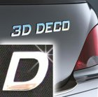 Písmeno samolepící chromové 3D-Deco - D