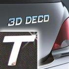 Písmeno samolepící chromové 3D-Deco - T