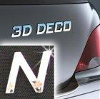 Písmeno samolepící chromové 3D-Deco - N