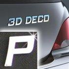 Písmeno samolepící chromové 3D-Deco - P
