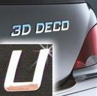 Písmeno samolepící chromové 3D-Deco - U