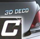 Písmeno samolepící chromové 3D-Deco - C