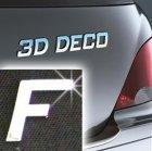 Písmeno samolepící chromové 3D-Deco - F