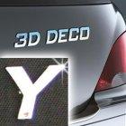 Písmeno samolepící chromové 3D-Deco - Y