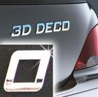 Písmeno samolepící chromové 3D-Deco - 0