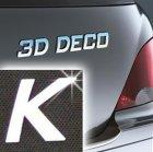 Písmeno samolepící chromové 3D-Deco - K