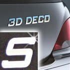 Písmeno samolepící chromové 3D-Deco - S