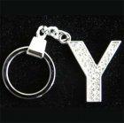 Přívěšek na klíče s imitací briliantů - písmeno - Y