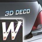 Písmeno samolepící chromové 3D-Deco - W