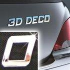 Písmeno samolepící chromové 3D-Deco - O