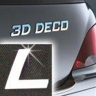 Písmeno samolepící chromové 3D-Deco - L